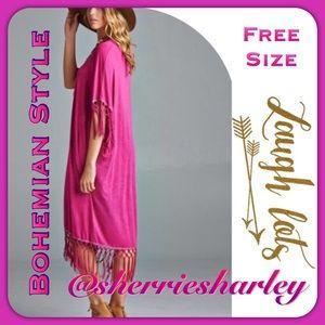 ➕Bohemian Mulberry Dress Fringe Trim Fits 1W-3W